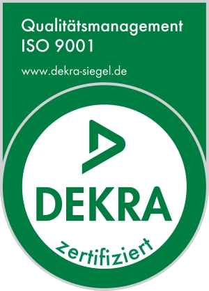 Dekra Siegel ISO 9001 Qualitätsmanagement